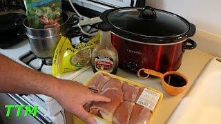 Easy Crock Pot Slow Cooker Recipe~Boneless Skinless Chicken Thighs in Teriyaki Sauce
