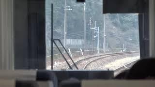 【車窓】JR四国2000系「宇和海」 振り子走行 2020.2.25