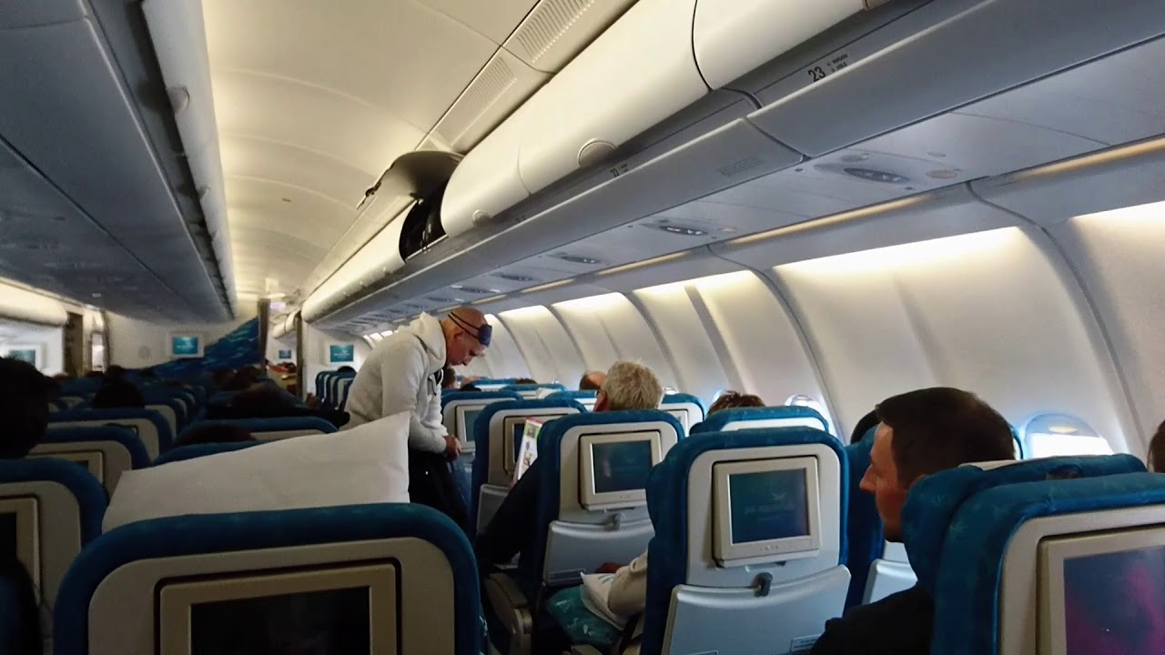 Passagers de air mauritius le maurice youtube for Avion air transat interieur