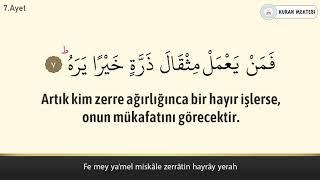 Zilzal suresi Abdurrahman el Ussi arapça okunuşu ve anlamı