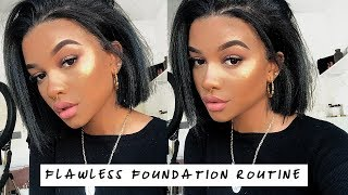 flawless full coverage foundation routine. (cake free & oily skin proof)