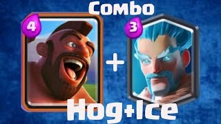 clash royale   hog rider and ice wizard deck  gameplay no one can touch your tower