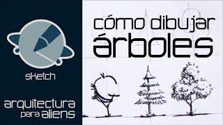 Cómo dibujar Árboles - Sketch - Arquitectura