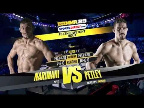 BAMMA 23 (Prelim) Jeremy Petley vs Nad Narimani