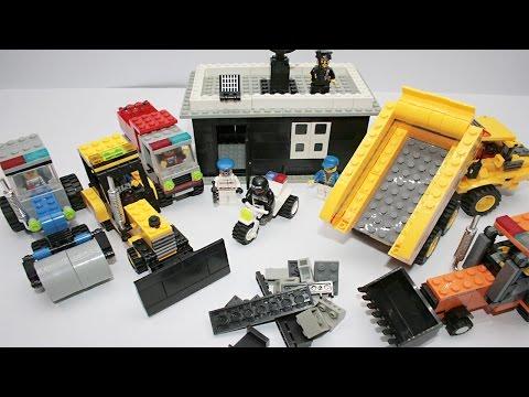 Машинки.Дорожно-строительная техника.Строим новый лего дом.Развивающий МУЛЬТИК про МАШИНКИ