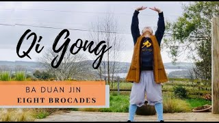 Ba Duan Jin   Eight Brocades   八段锦 - Guided Breathing - Qi Gong To Strengthen Your Organs & Health