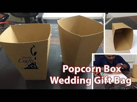 Working on Progress wedding Gift Bag / Popcorn Box | Mahesjeevan | Temple Crafts | DIY