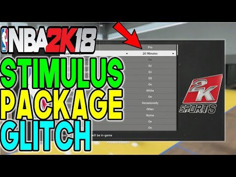 NBA 2K18 STIMULUS PACKAGE GLITCH•GET YOUR MYCAREER TO 1 OR 20 MINS QUARTERS