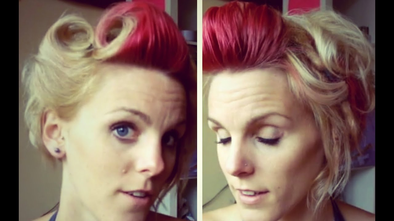 Victory Rolls In Short Hair Rockabilly 2 Youtube