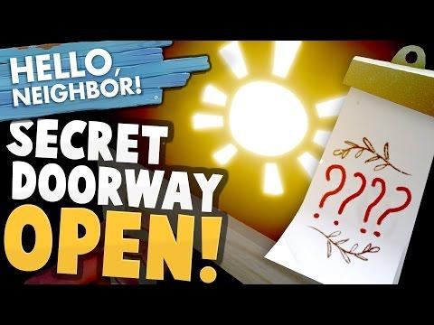 SECRET HIDDEN DOORWAY UNLOCKED! Codes & Vault Door Inside! - Hello Neighbor Alpha 4 Gameplay