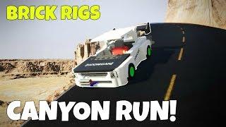 DOWNHILL CANYON RUN CHALLENGE! - Brick Rigs Gameplay Creations