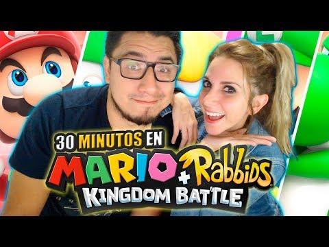 30 Minutos en: MARIO + RABBIDS KINGDOM BATTLE (con Fedelobo) │Nadia Calá