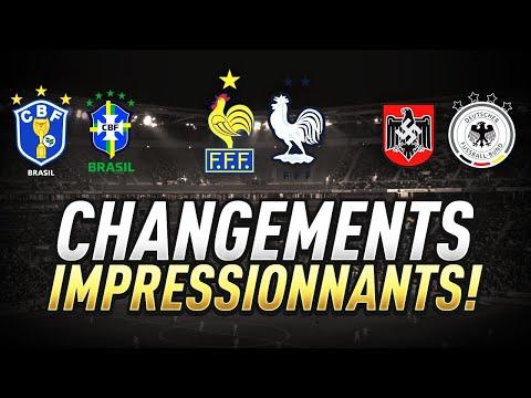 🔁 LES CHANGEMENTS DE LOGOS ÉTONNANTS DES NATIONS DU FOOT !