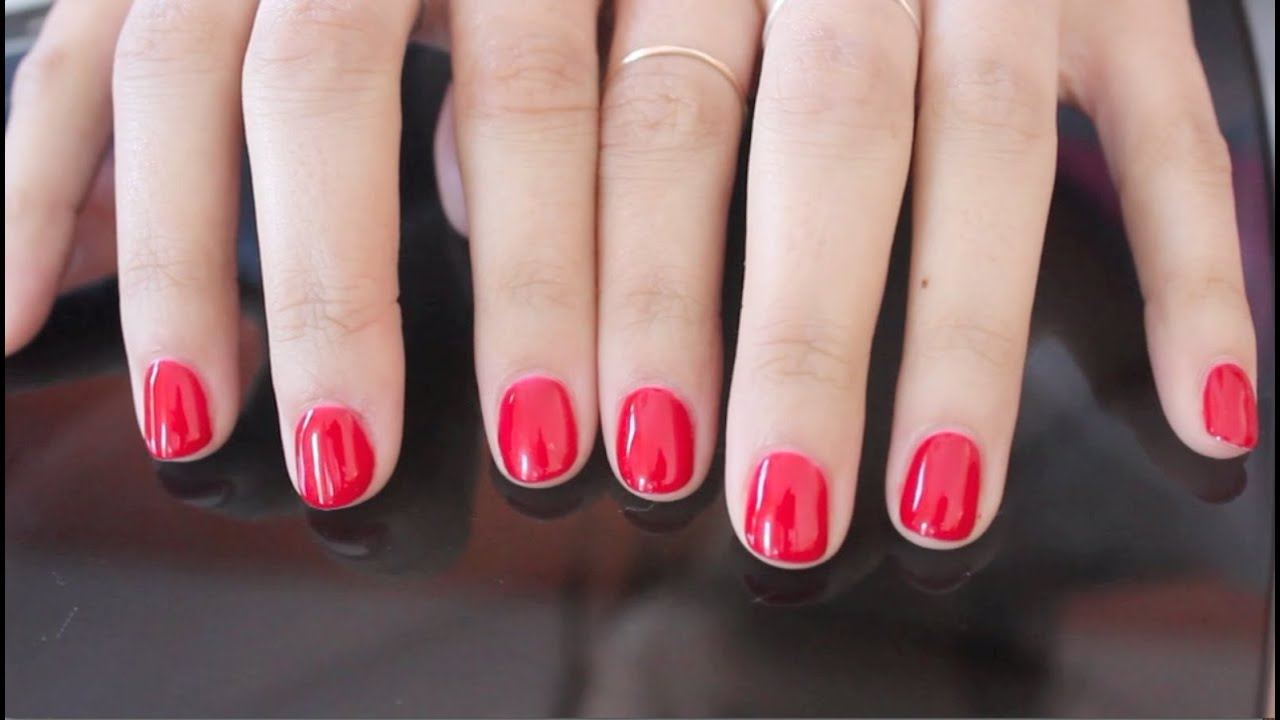 DIY: Gel Nails at Home - YouTube
