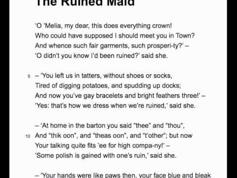 The Ruined Maid by Thomas Hardy