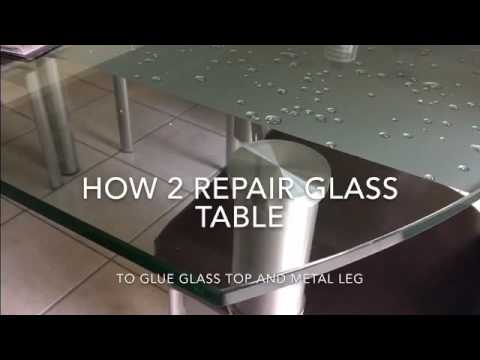Glass Dinning Table Repair Youtube