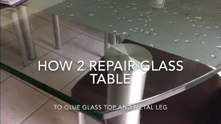 Glass dinning table repair