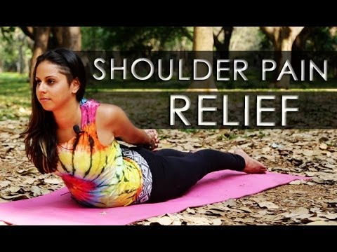 easy yoga stretches for instant shoulder pain relief  youtube