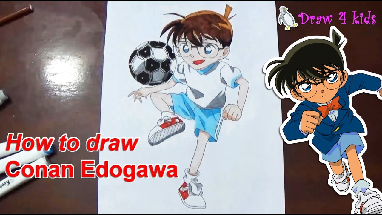How to draw Conan Edogawa | D4K