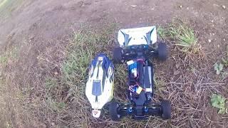 HSP XSTR 1:10 BRUSHED RC CAR 1st TEST DRIVE SPEED TEST OFF ROAD