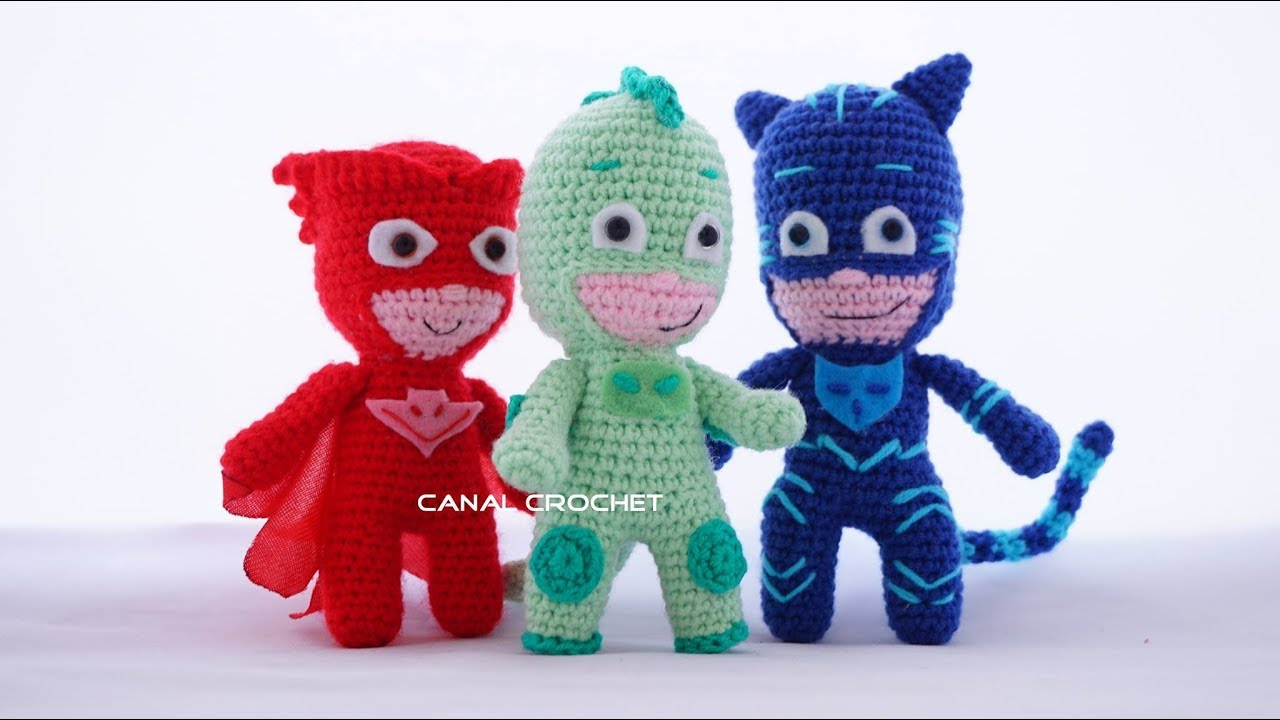 PJ Masks amigurumi tutorial ( Héroes en Pijama) - YouTube 5c56b3c3cc0