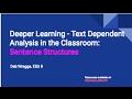 Text Dependent Sentence Construction Strategies