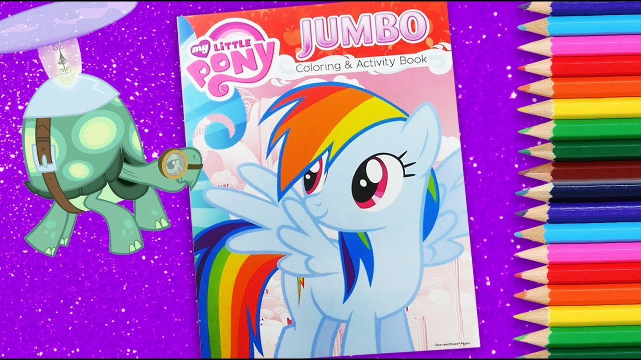 - My Little Pony Jumbo Coloring And Activity Book MLP Coloring For