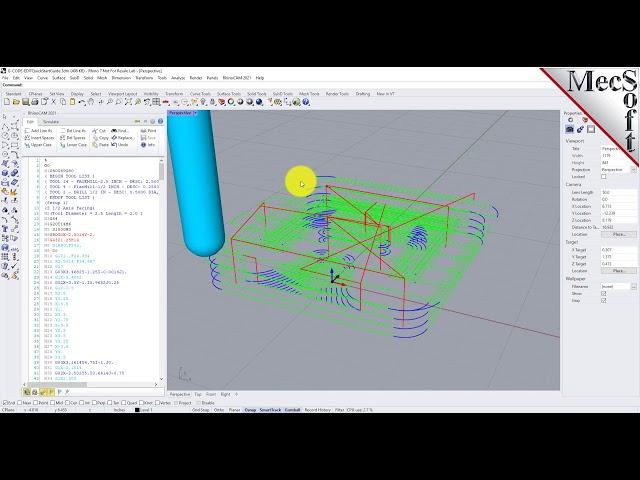 RhinoCAM 2021: G-CODE Editor Quick Start