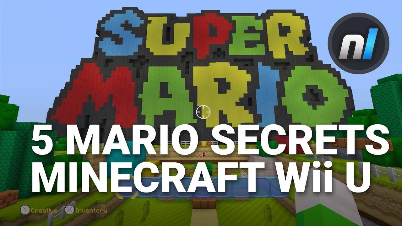 Five Super Mario Secrets In Minecraft Wii U Super Mario Edition - Maps fur minecraft wii u