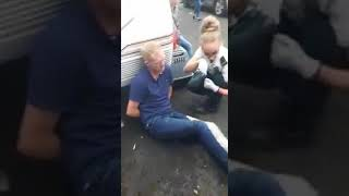 Andy Cash being bitten by Police dog in Birmingham part 2