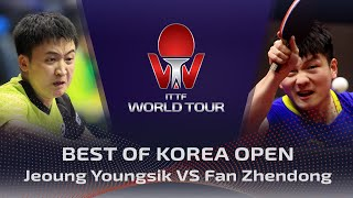 FULL MATCH - Jeoung Youngsik vs Fan Zhendong (2019) | BEST of Korea Open