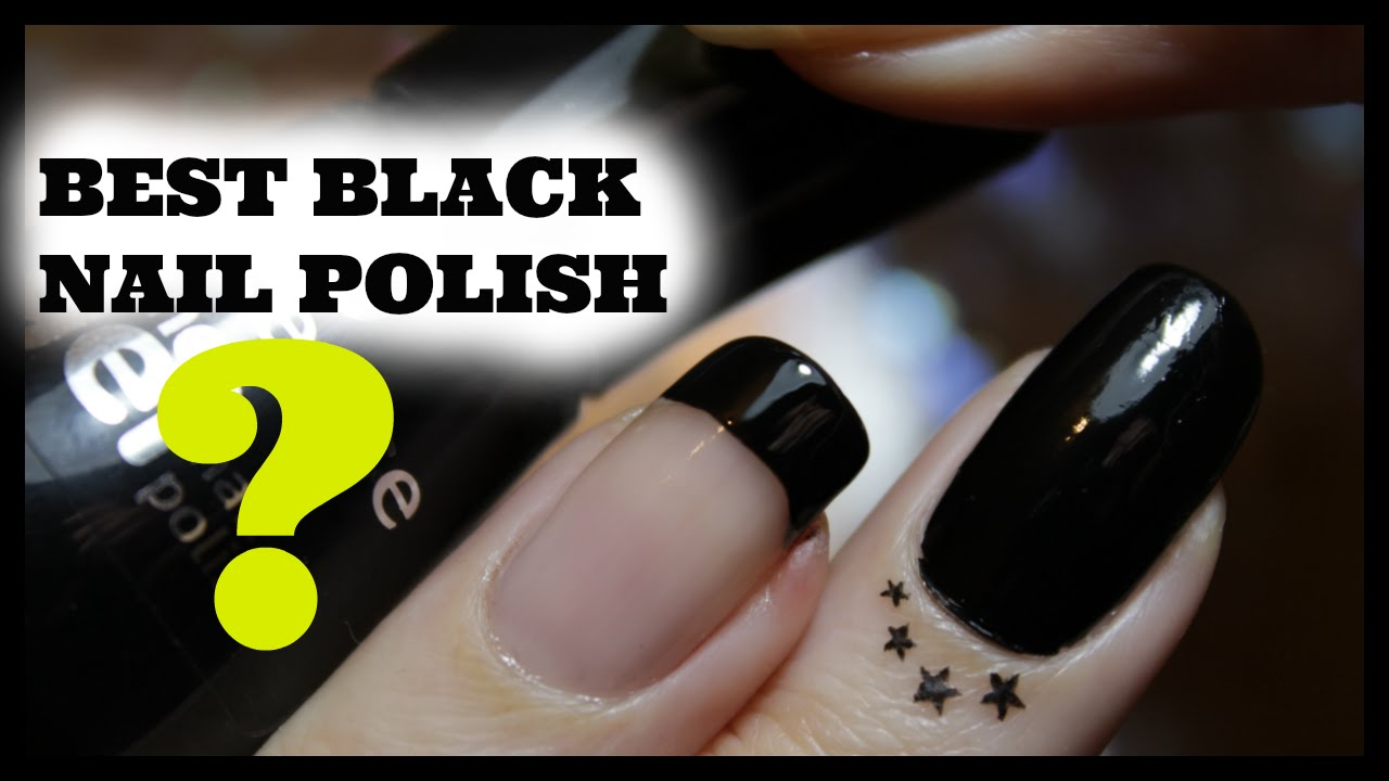 BEST BLACK NAIL Drugstore Polish - YouTube