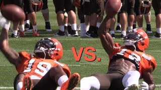 It's Corey Coleman vs. Kenny Britt in a game of P-I-G at Cleveland Browns training