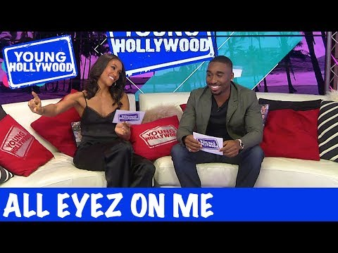 All Eyez on Me Stars Challenge Each Other to a Rap Battle!