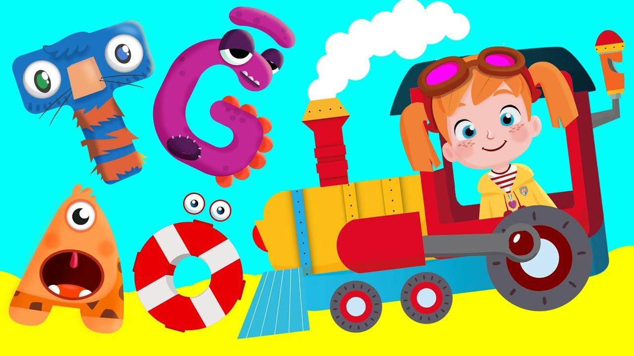 Alfabe Treni ile A'dan Z'ye Harfleri Öğreniyoruz | ABC Alfabe Şarkısı