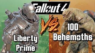Liberty Prime vs 100 Legendary Behemoths | Fallout 4 Battle Arena | Battle Request
