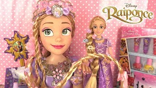 Raiponce Tête à Coiffer Accessoires de Princesse ♥︎ Rapunzel Deluxe Styling Head
