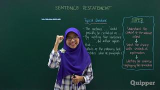 Quipper Video - Sentence Restatement - Persiapan SBMPTN Bahasa Inggris