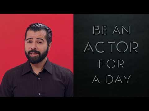 Be an actor for a day! Mit dem Acting Center Tavakoli und Julius Meinl