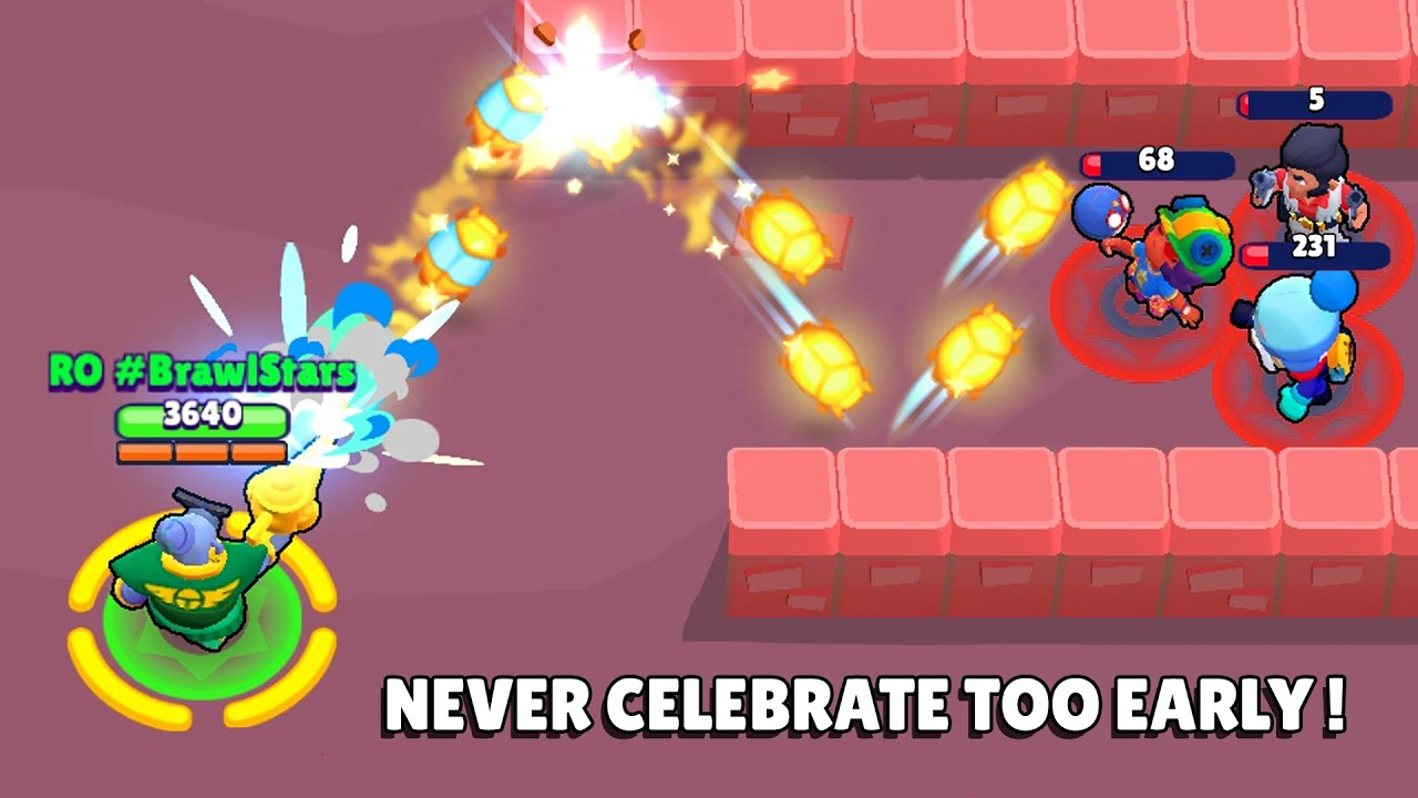 NEVER CELEBRATE TOO EARLY!!! Brawl Stars Starr Park Funny Moments & Fails