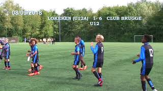 CLUB BRUGGE 6 -1 LOKEREN (A) U12 / 08/09/2018/LOKEREN (chant de victoire)
