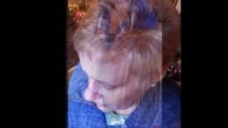 First colour treatment,brown to blonde after chemotherapy
