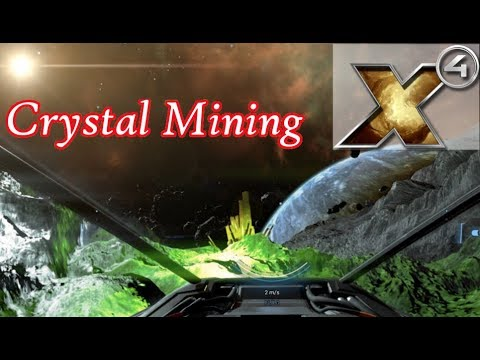 X4 Foundations Gameplay - Mining Crystals For Credits