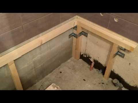 Установка акриловой ванны на каркас. Часть 1.