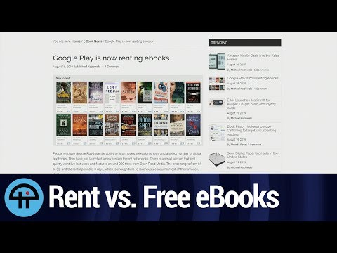 Free Alternative To Renting EBooks From The Play Store