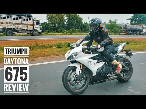 Triumph Daytona  Review   Fast Highway Run   RWR