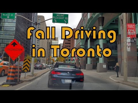 Driving in Toronto Fall 2014 Captured with Samsung Galaxy Note 4 1080p