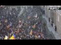 Manifestation pour l'indépendance de la Catalogne à Barcelone