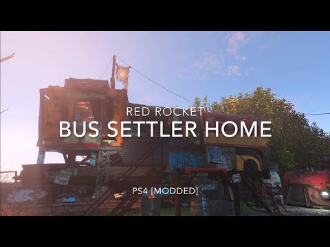 Fallout 4: Red Rocket - Bus settler home [PS4 Modded]