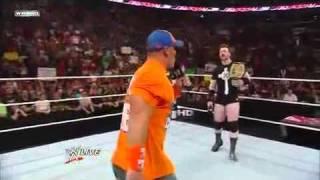 WWE Raw 6 28 10 John Cena Funny Moment.